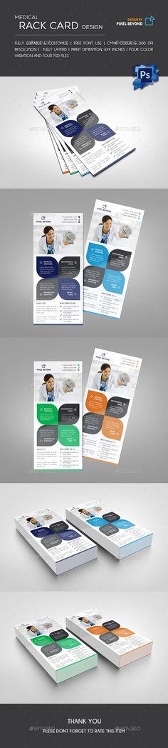 Medical Rack Card Flyer Design Template - Flyers Print Templates PSD. Download here: https://graphicriver.net/item/medical-rack-card/19292295?ref=yinkira