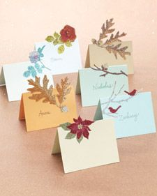 Glittered Pop-Up Cards
