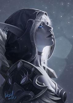 World of Warcraft Art Board ^^ // Blizzard // wow // // Digital // Geek // Sylvanas Dark Fantasy Art, Fantasy Kunst, Fantasy Girl, Fantasy Artwork, Dark Art, 3d Artwork, Final Fantasy, World Of Warcraft, Art Warcraft