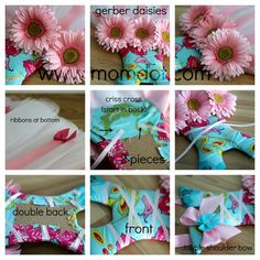 Step 3 of Tutu Hairbow holder (details and the back as well as the headband holder)