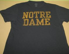 NOTRE DAME Fighting Irish NCAA T Shirt Sz L Large - Blue - 47 Brand Scrum #47Brand #NotreDameFightingIrish