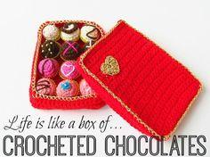 Crochet Box of Chocolate
