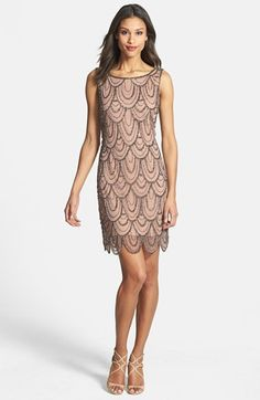Free shipping and returns on Pisarro Nights Embellished Mesh Cocktail Dress (Regular & Petite) at Nordstrom.com. Strands of gleaming beads and sequins create an Art Deco-inspired pattern atop the mesh overlay of a short evening dress with a rounded scalloped hemline.