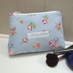 personalised cosmetic bag by jackie at heavenlyhearts | notonthehighstreet.com