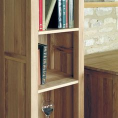Mobel Solid Oak Narrow Bookcase -  - Bookcase - Baumhaus - Space & Shape - 2