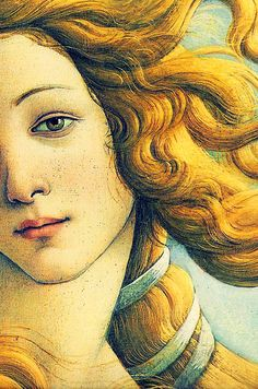 Traveling through history of Art...Birth of Venus, detail, by Sandro Botticelli, 1486.