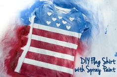 DIY Flag T-shirts! Easy t-shirts using spay paint and painters tape!
