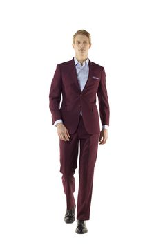 Custom Made Wine Suit if you love colors by Ravis Custom Tailor