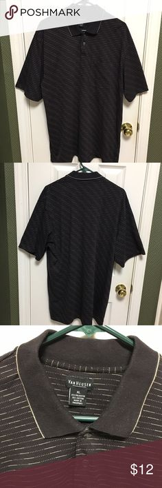 Van Heusen shirt. Black size XL Van Heusen shirt. Black color 65% polyester 35% cotton. Size XL. This is a very nice shirt. Van Heusen Shirts Casual Button Down Shirts