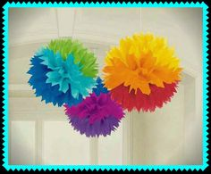 Cinco de Mayo Dekoration Seidenpapier Pom Pom Rainbow Gewebe Bälle Rainbow Party Geburtstag Party Dekoration Baby-Dusche begünstigt
