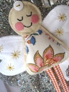 Vintage Liberty Fabric Angel Decoration by SnowFish on Etsy