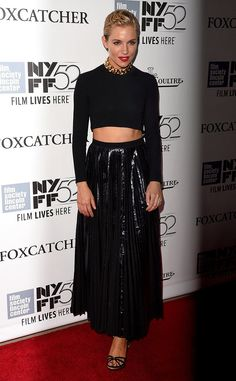 Sienna Miller  At the New York premiere of Foxcatcher, October 2014