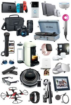 Do you love tech gadgets? Here are 22 tech gifts to help you find that perfect for everyone on your list. Cool Tech Gifts, Tech Gifts For Dad, Technology Gifts, Technology Gadgets, Wallpaper Aesthetic, Electronics Gadgets, Best Tech Gadgets, Fun Gadgets, Tecnologia