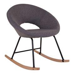 Tyylikäs Nordic House Space keinutuoli  Mukava ja kevyt Space keinutuoli. Keinutuolin jalat ovat pyökkiä ja runko mustaksi maalattua metallia. Verhoiltu kulutusta kestävällä, harmaalla kankaalla. Keintuoli on moderni ja se sopii moneen eri tyyliin.  Mitat:  Leveys 72 cm  Syvyys 80 cm  Korkeus 78 cm  130 e veken kaluste