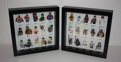 Neat idea for displaying minifigs in a frame.  Maybe this is what I will do with the mini-figs I am collecting for the boys to display in the playroom!