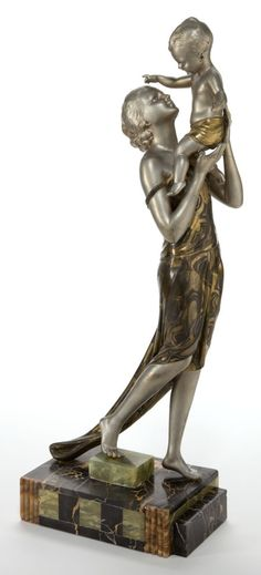 A FRENCH ART DECO POLYCHROME FIGURAL BRONZE AFTER URIANO . Uriano, France, 20th century.