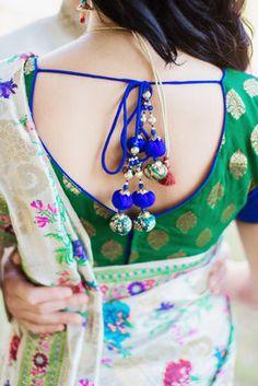 Colorful, Indian-Jewish Fusion Wedding - Bride, Back, Broom
