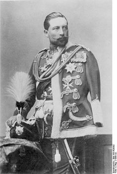 Kaiser Wilhelm II, 1890  no left arm   pay attention to clothing during that time  ellie hamm