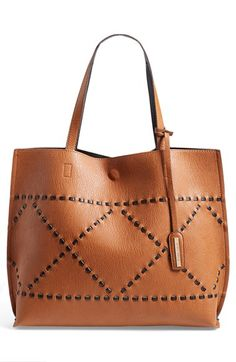 Street Level Reversible Woven Faux Leather Tote available at #Nordstrom #Summer #MintGrey