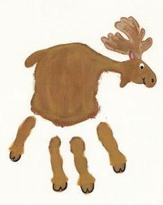 Hand print moose