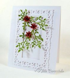 Framed Summer Flowers by kittie747 - Cards and Paper Crafts at Splitcoaststampers