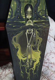 Fertile Soils Corruption original painting -Lowbrow misfits White Stag Art Skeleton Girl, Creepy Cute, Dark Fantasy Art, Misfits, Artist Names, Fertility, Coffin, Special Events, Original Paintings