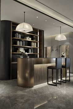 Modern home bar design ideas Bar Lounge, Bar Counter Design, Modern Home Bar, Home Bar Designs, Bar Furniture, Modern Furniture, Hospitality Design, Interior Design Inspiration, Design Ideas