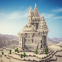 Casa Medieval Minecraft, Cute Minecraft Houses, Minecraft Mansion, Amazing Minecraft, Minecraft House Designs, Minecraft Desert House, Cool Minecraft Creations, Minecraft Building Guide, Minecraft Plans