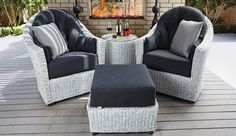 Lounge in Style with the Isabella Wicker Chat Set | CarlsPatio.com #wicker  #chatset #outdoorfurniture #patiofurniture