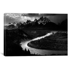 Ansel Adams THE TETONS - SNAKE RIVER