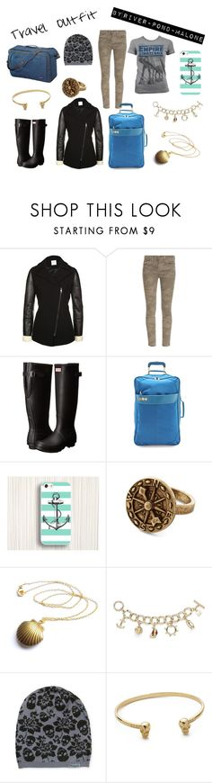 """""""Travel"""" by river-pond-malone ❤ liked on Polyvore featuring Pinko, Current/Elliott, Hunter, Flight 001, Sperry, Samantha Wills and Patagonia"""