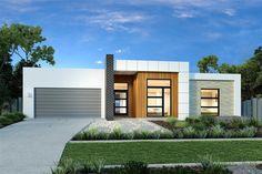 Tour Design, G. Gardner Homes - Custom Home Builders Flat Roof House, Facade House, Contemporary House Plans, Modern House Plans, Minimalist House Design, Modern House Design, Facade Design, Exterior Design, Modern Exterior