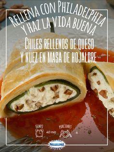 Porque relleno sabe mejor, Chiles rellenos de queso y nuez.   #ChilesRellenos…