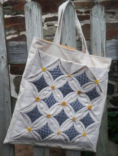 Cathedral Windows Tote Bag  ~ Wonky Patchwork