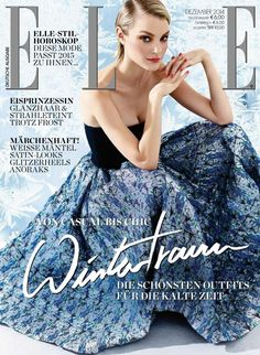 Jessica Stam for Elle Germany December 2014.