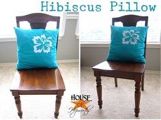 Pillows decorated using Silhouette Cameo Heat Transfer Sheets