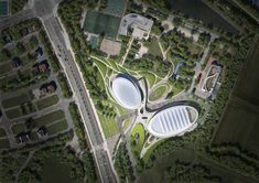 Gallery of ANU Design Group Creates a Three-Dimensional Landscape for the Chungnam Sports Center - 6 Landscape Elements, Landscape Design, Design Language, Sports Clubs, Exterior House Colors, Three Dimensional, Environment, Urban, In This Moment