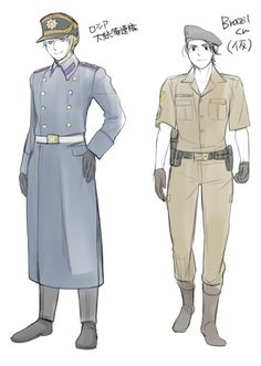 Types of uniforms. I think this is Russia and Brazil. #tumblr #Source:ayase-memo