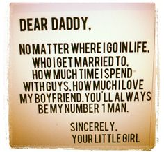It's true :) I love my Daddy!