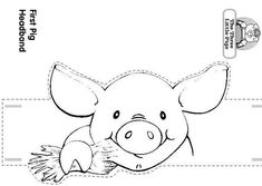 Craft a Three Little Pigs and the Wolf Headband/ Pig with a House of Hay. by Luisa Robles Three Little Pigs and the Wolf Animal Art Projects, Animal Crafts, Farm Crafts, Three Little Pigs, Animal Activities, Animal Masks, Farm Theme, Felt Patterns, Animal Coloring Pages