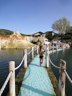 Sunken bridge at The Springs Resort & Spa, Pagosa Springs Colorado www.pagosahotsprings.com 970-264-4168