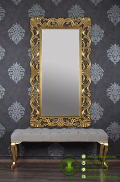 Cermin Mewah Model Ukiran & Puff www.jatipribumi.com Model furniture mewah dengan cermin ukiran khas mebel jepara yang dapat anda jadikan dekorasi interior rumah idaman anda.