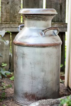 How to faux paint milk can