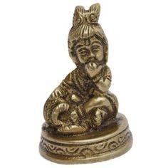 Brass sculpture of Hare Krishna Size: 3.175 X 3.175 X 5.08 Cm.: Amazon.co.uk: Kitchen & Home