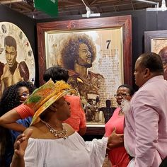 Kevin A. Williams (WAK) exhibition at the Essence Festival in New Orleans, Louisana attacted all kinds of celebrity collectors include Roland Martin pictured here. #blackart #neworleans...