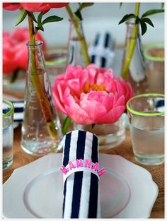 Pretty place-settings please your party-goers
