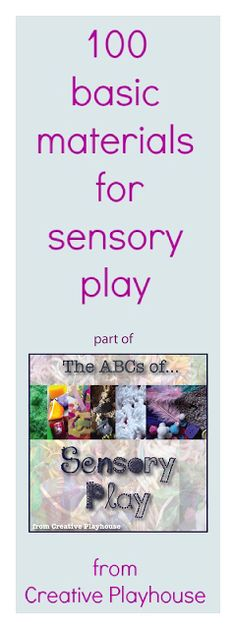 Creative Playhouse: K - O in the ABCs of Sensory Play