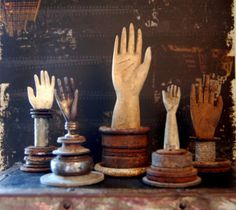 I wish I could find some of these old glove forms.