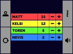 Scorekeeper XL - free. Keep score with board games etc.