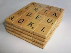 Scrabble Tile Coasters | Community Post: 17 Coaster DIYs Made With 20-Cent Tile